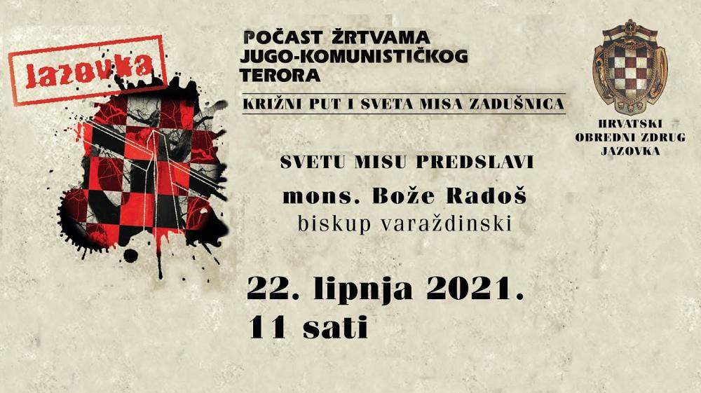 PRIJENOS UŽIVO: Spomen pohod na Jazovku 22. lipnja 2021.